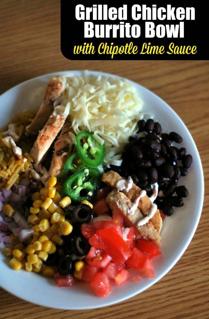 Burrito de pollo á prancha Burrito con chipotle e salsa de cal | Recetas da tía