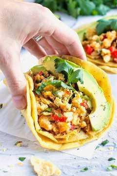 Receta fácil de Tacos de Migas para el Desayuno
