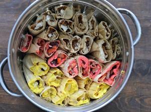 Tamales dulces en vapor