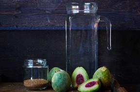 Ingredientes para fazer um fruto de cacto Agua Fresca