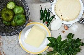 Ingredientes para hacer tacos de queso