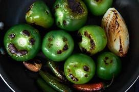 Tomates Verdes Charrados Y Chiles Serranos