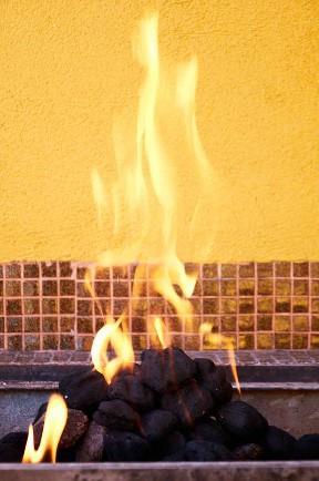Briquetas de carbón de leña de iluminación