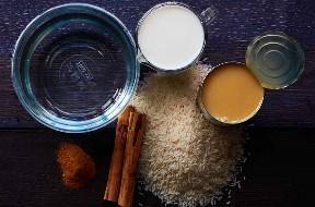 Ingredientes para fazer a horchata autêntica