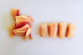 Filetes de pescado en porciones