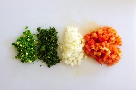 Pico de Gallo Ingredientes Picados