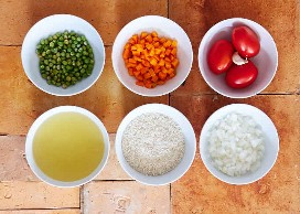 Ingredientes para Preparar Arroz Mexicano