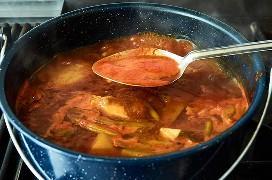 Eliminando la Espuma de la Sopa Clemole