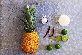 Ingredientes Ensalada De Piña Picante
