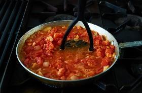 Tomates triturados para salsa veracruzana