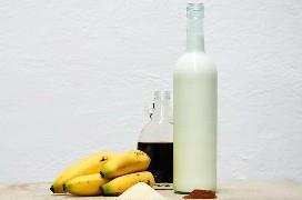 Ingredientes líquidos de banana