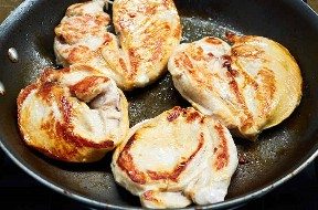 Pan Cocinar Pechugas De Pollo Para Hacer Tacos De Pollo