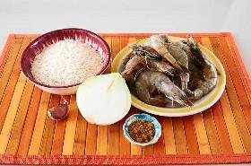 Ingredientes para Camarones Al Curry Y Arroz