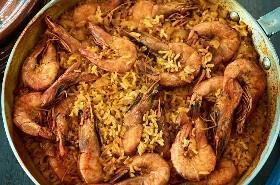 Fácil Curry Mexicano Arroz Y Camarón