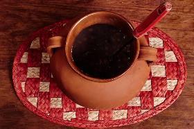 Frijoles de la Olla en una vasija de barro