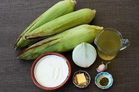 Ingredientes para la Crema Mexicana de Sopa de Maíz
