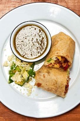 Burrito de desayuno al estilo de California