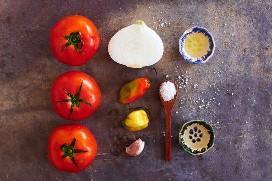Ingredientes Tomate Habanero Salsa