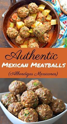 Descubre cómo hacer estas deliciosas albóndigas mexicanas fáciles de hacer, conocidas como