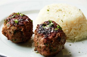 Plated Pan Fried Meatballs