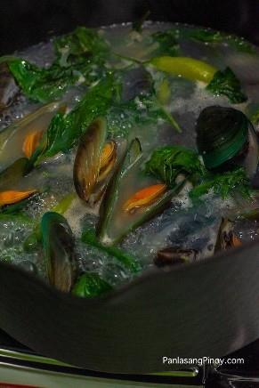 Cómo cocinar Tinolang Tahong