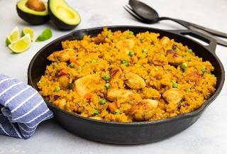 Pollo y Arroz Estilo Mexicano - Pequeña Galleta Inteligente