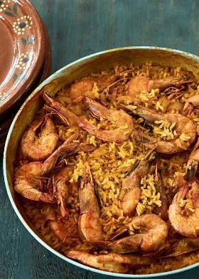 Arroz y Camarones Mexicanos Al Curry