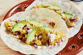 Desayuno Tacos Huevo Bacon Patata