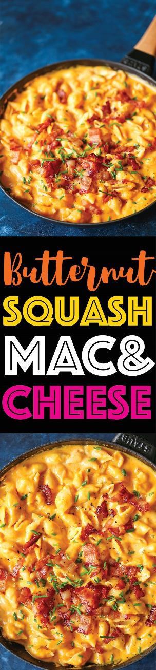 Butternut Squash Mac and Cheese - ¡Mac y queso en su máxima expresión! ¡Tan cremoso, tan rico + tan asombroso que es mucho más saludable que el mac y el queso tradicionales!