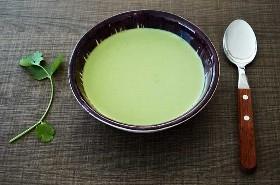 crema de sopa de cilantro