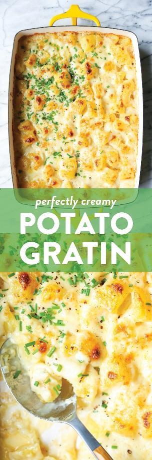 Grata Cremosa de Patata - ¡Garantizado para ser el acompañamiento favorito de todos, para cenas o días festivos! ¡Tan increíblemente rico, cremoso, mantecoso y completamente adictivo!