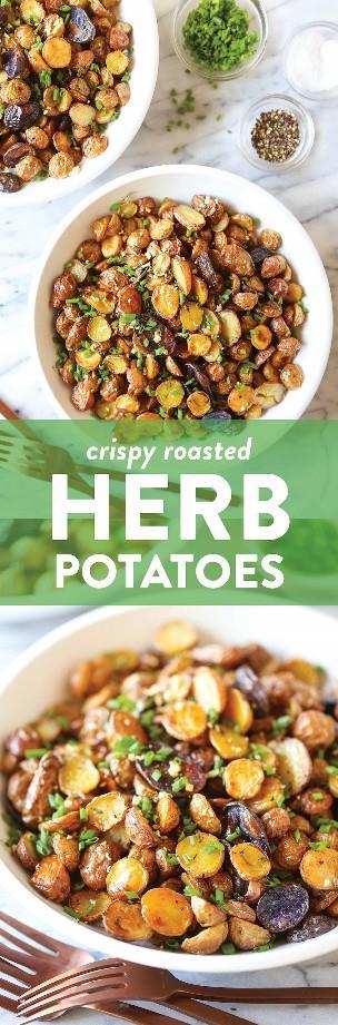Patatas asadas crujientes - ¡Patatas asadas extra crujientes! ¡Es el acompañamiento perfecto para cualquier comida con solo 15 minutos de preparación y la lista de ingredientes más corta!