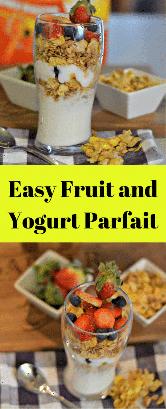 Estos parfaits de frutas y yogur fáciles son deliciosos y son una manera perfecta de comenzar tu día y año.