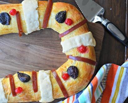 Rosca de Reyes Listo para cortar