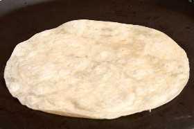 Tortilla en Comal
