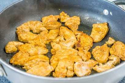 pechuga de pollo sazonada fajita