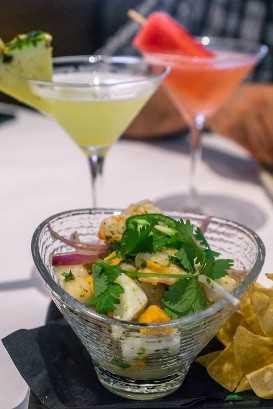 Menú de verano de Bonefish Grill - Ceviche fresco