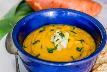 Sopa De Puerros De Patata Dulce