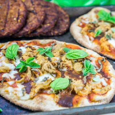 Pizza Naan a la parrilla | Babaganosh.org