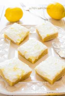 Limón Limón - ¡Como los brownies, pero hechos con limón y chocolate blanco! ¡Denso, masticable, no cakey y lleno de gran sabor audaz de limón!