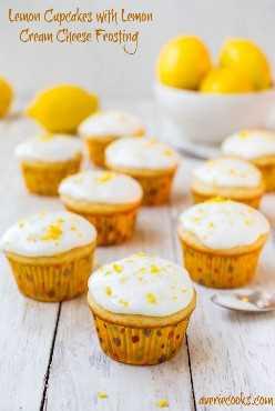 Magdalenas de limón con glaseado de queso crema de limón - ¡Magdalenas suaves, esponjosas, húmedas, muy lemony desde cero! ¡Receta fácil de un tazón, sin mezclar para cupcakes que saben como si fueran de una panadería!