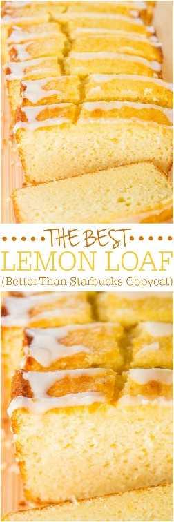 The Best Lemon Loaf (Copycat Mejor-Que-Starbucks) - Tomó años, ¡¡pero finalmente lo recreé! Fácil, sin mezclador, sin mezcla para pasteles, peligrosamente bueno, ¡y PUNTO ENCENDIDO!