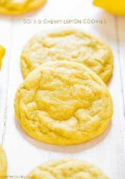 Galletas de limón blandas y blandas: ¡llenas de un sabor de limón grande y audaz para todos los que aman el limón! ¡Son blandos, masticables y nada en absoluto!
