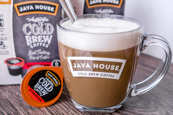 imagem de javahouse café quente em uma xícara
