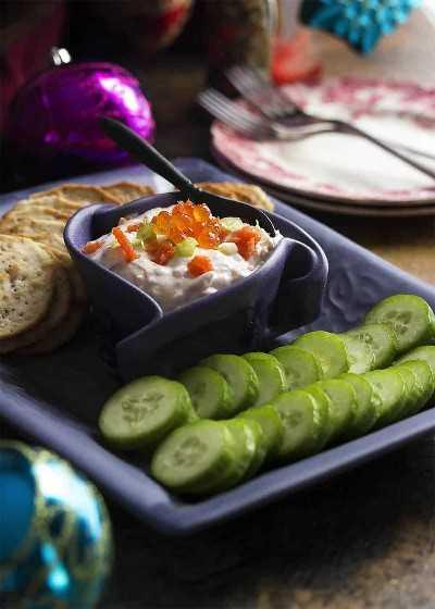 Dip de caviar y salmón ahumado - Resumen de recetas lox