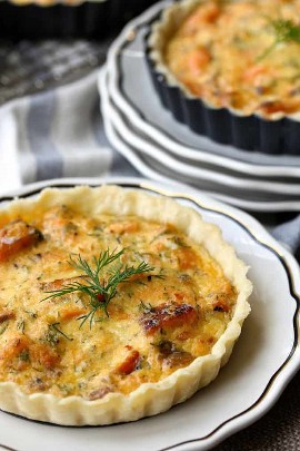 Tartaletas de rábano picante con salmón ahumado - resumen de recetas lox