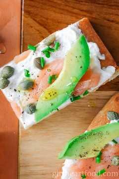 Aperitivos de salmón ahumado con aguacate - Resumen de recetas lox
