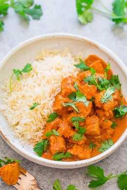 Olla a presión de pollo Tikka Masala - ¡Haz este favorito indio en casa en 30 minutos en tu olla a presión, o hazlo en tu olla de cocción lenta! ¡El jugoso pollo está cubierto con una salsa cremosa ultra SABROSA! ¡No necesitas ir a un restaurante porque esta FÁCIL receta sabe MEJOR!