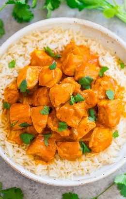 Indian Butter Chicken - ¡Una receta FÁCIL DE UN POTE para un favorito clásico de la India! Jugoso pollo BUTTERY cocinado a fuego lento en una salsa a base de tomate CREAMY. La próxima vez que estés deseando comida india, ¡puedes hacerlo tú mismo en 30 minutos!