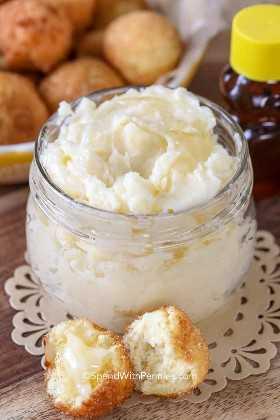 Mantequilla de miel en un frasco - rápido de hacer